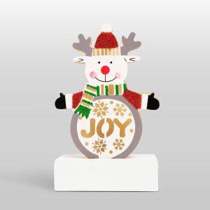 Family Karácsonyi LED asztali dekor fából - rénszarvas - 58011D