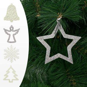 Family Pound Karácsonyfadísz - többféle - 10 cm - 2 db / csomag - 58023X