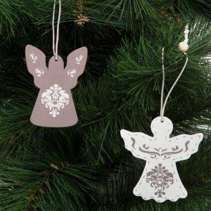 Family Pound Karácsonyfadísz - angyalka - akasztható - 7 x 5 cm - 58026
