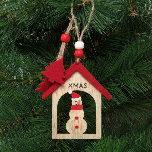 Family Pound Karácsonyfadísz - hóember - akasztható - 17,5 x 7,5 cm - 58027
