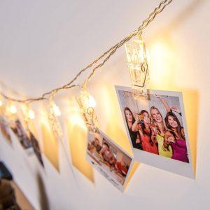 Family Karácsonyi LED dekor csipesz - 10 LED - melegfehér - 58035