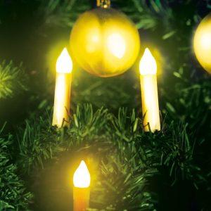 Family Karácsonyi LED gyertyafüzér - melegfehér - 10 LED - 58037A