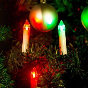 Family Karácsonyi LED gyertyafüzér - Multicolor - 10 LED - 58037B