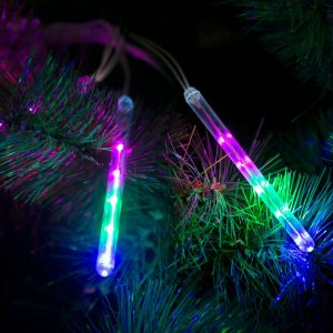 Family Meteor jégcsap karácsonyfa izzó - 50 LED - 11,5 cm - Multicolor - 58038B