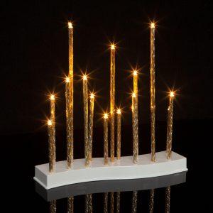 Family Karácsonyi LED gyertya dekoráció - 15 LED - melegfehér - 58040C