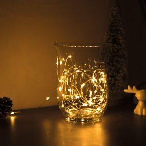 Family Karácsonyi LED fényfüzér - 5 m - 50 LED - melegfehér - 58041A