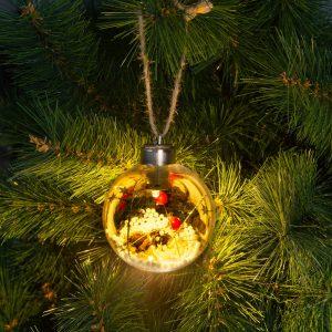 Stern Fabrik LED-es karácsonyfadísz - melegfehér - 8 cm - 58058