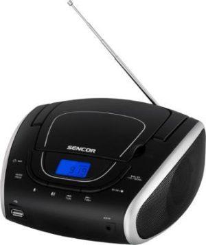 Sencor SPT 1600 BGN hordozható CD-s rádió USB,MP3 lejátszással, zöld-fekete