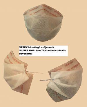 Egészségügyi szájmaszk -  VETEX kétrétegű szájmaszk SILVER ION - ImmTCH antimicrobiális bevonattal