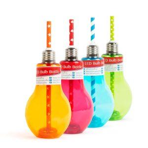 Family Világító LED-es party pohár - izzókörte - 400 ml - 57160K
