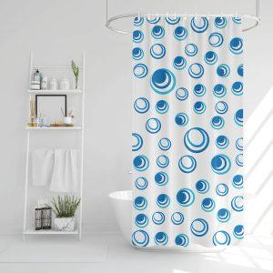 Family Zuhanyfüggöny - kék-fehér - 183 x 183 cm - 11527C