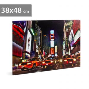 """Family LED-es fali hangulatkép - """"Times Square"""" - 58018D"""