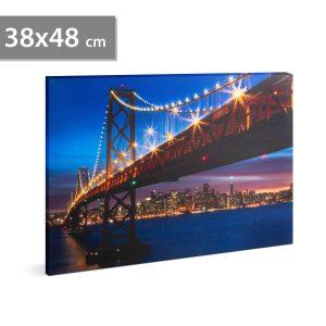 """Family LED-es fali hangulatkép - """"Golden Gate Híd"""" - 58018I"""