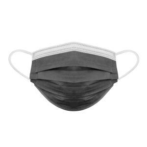3-Ply Szájmaszk - 3 rétegű - fekete - 10 db / csomag - PR069F