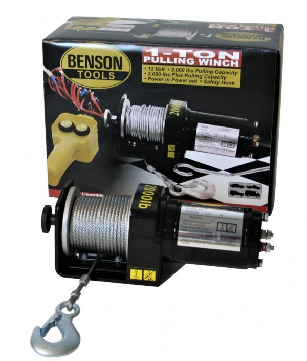 Benson elektromos lökhárító csörlő 12 Volt 1000 Kg 15 méter - 002920