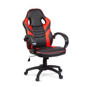 BMD Gamer szék karfával - piros - 71 x 53 cm / 53 x 52 cm - BMD1109RD