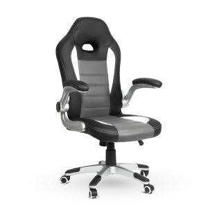 BMD Gamer szék - lehajtható karfával - 71 x 53 cm / 53 x 52 cm - BMD1109WH
