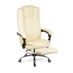 BMD Irodai szék lábtartóval, karfával - vajszínű - 76 x 50 cm / 50 x 51 cm - BMD1111