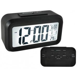 IsoTrade LCD kijelzős ébresztőóra ,12 / 24h hőmérő funkcióval - 6583