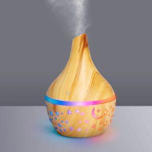 Bewello Fényterápiás aroma diffúzor - fahatású minta - 300 ml - BW2001