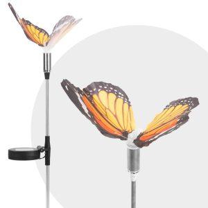 Globiz LED-es szolár pillangó - hidegfehér - 65 cm - 11387C