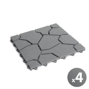 Globiz Kerti járólap - kőmintás - műanyag - szürke - 11533