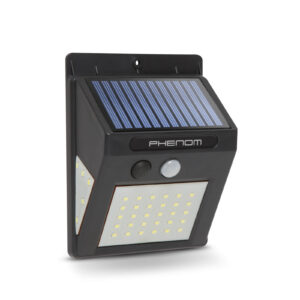 PHENOM Mozgásérzékelős szolár reflektor - fali - 40 LED - 55288