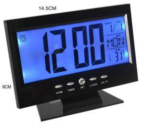 MAXI LCD kijelzővel Digitális óra és hangvezérléssel, hőmérő funkcióval GZ-16015
