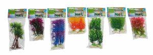 Aquarium növények, műanyag kivitel, súly a talpában 5x18x1,5cm - 98330