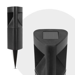 Garden of Eden LED-es szolár lámpa - háromszög alakú, fekete, műanyag - 11233A