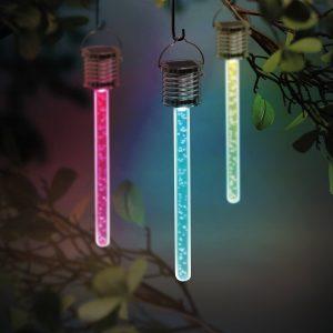Garden of Eden RGB LED-es szolár lámpa - buborékos - 175 x 30 mm - 11247