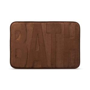 """Family Fürdőszobai kilépőszőnyeg - """"BATH"""" - barna - 60 x 40 cm - 57156A"""