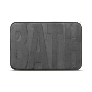 """Family Fürdőszobai kilépőszőnyeg - """"BATH"""" - szürke - 60 x 40 cm - 57156B"""