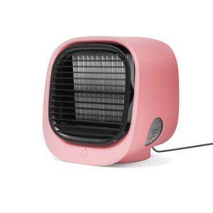 Bewello Hordozható mini léghűtő ventilátor - USB - rózsaszín - BW2009PK