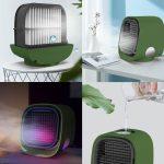 Bewello Hordozható mini léghűtő ventilátor - USB - zöld - BW2009GR