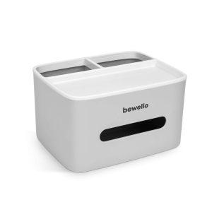 Bewello Papírzsebkendő, tisztítókendő adagoló - fehér - 205 x 160 x 120 mm - BW3006