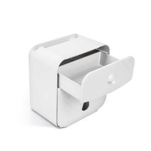 Bewello WC-papír tartó szekrény - fehér - 205 x 125 x 220 mm - BW3004