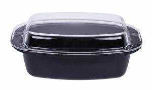 Smile Sütőtál üvegtetővel 5L/2,5L 39x22x15,6 cm - SBR-1