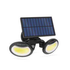 PHENOM Mozgásérzékelős szolár reflektor - forgatható fejjel - 2 COB LED - 55283