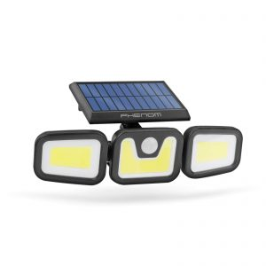 PHENOM Mozgásérzékelős szolár reflektor - karos, forgatható - 3 COB LED - 55284