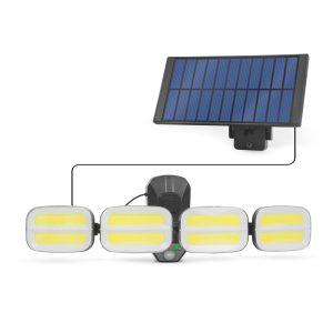 PHENOM Mozgásérzékelős szolár reflektor - kábeles szolár egységgel - 8 COB LED - 55285