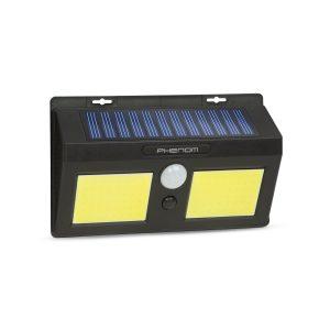 PHENOM Mozgásérzékelős szolár reflektor - fali - COB LED - 55287