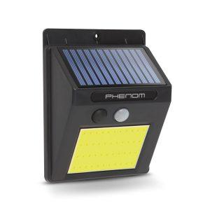 PHENOM Mozgásérzékelős szolár reflektor - fali - COB LED - 55288B