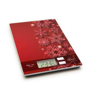 Vog&Arths Konyhai mérleg - karácsonyi - piros - 57267N