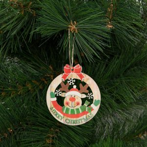 Karácsonyfadísz - rénszarvas - akasztható - 8,5 x 9,5 cm - 58248C