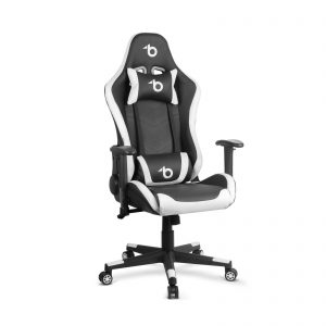 Bemada RGB LED-es gamer szék párnával, karfával - 85 x 57 cm / 54 x 52 cm - BMD1112