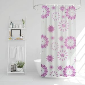 Family Zuhanyfüggöny - virág mintás - 180 x 180 cm - 11528A