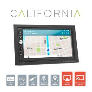 "MNC Multimédiás fejegység ""California"" - 2 DIN - 4 x 50 W - WiFi - BT - MP5 - AUX - SD - USB - 39753"