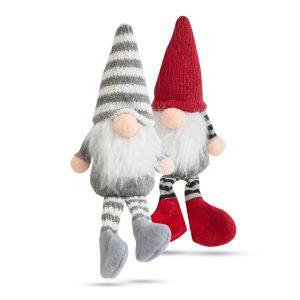 Karácsonyi skandináv manó lábakkal - 2 féle - 20 cm - 58051J