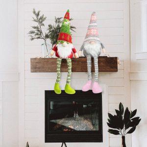 Karácsonyi skandináv manó lábakkal - 2 féle - 50 cm - 58051L